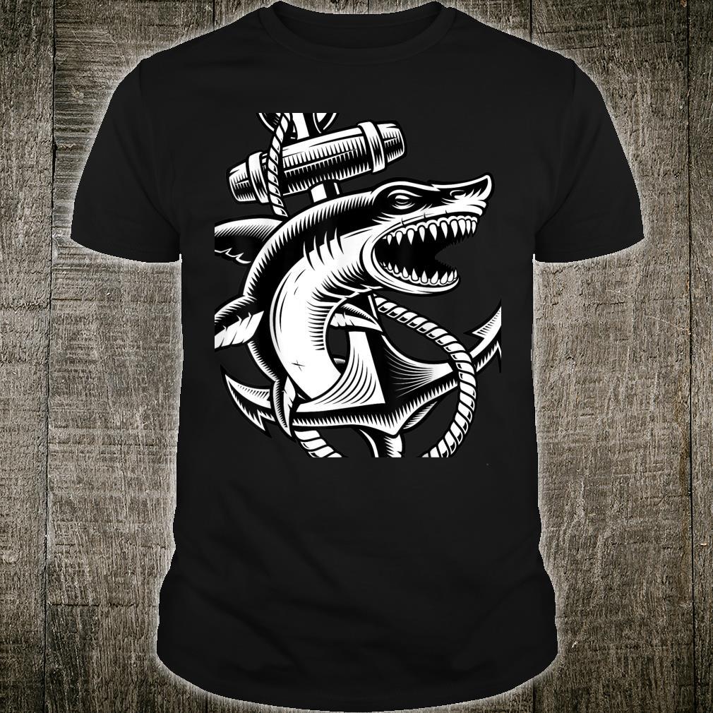 Sharkth Anchor Nautical Ocean Cool Animals Shirt