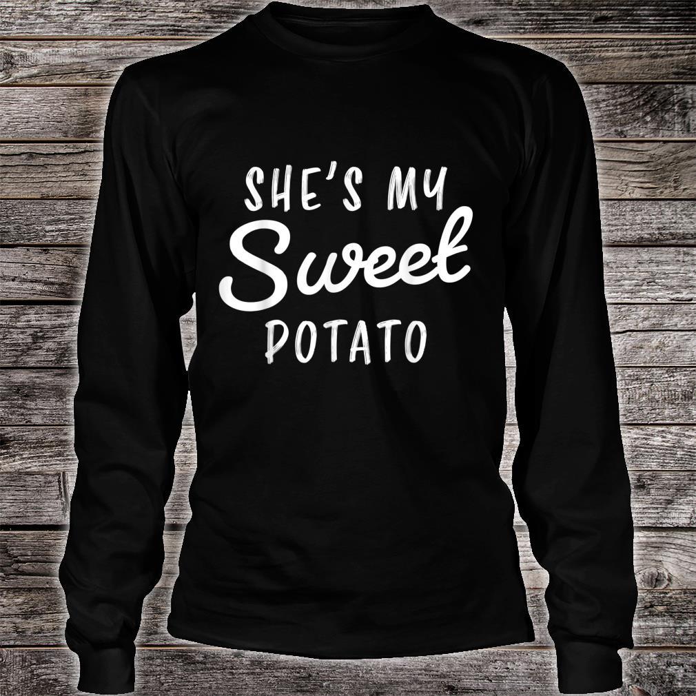 She's My Sweet Potato I Yam Couple Shirt long sleeved
