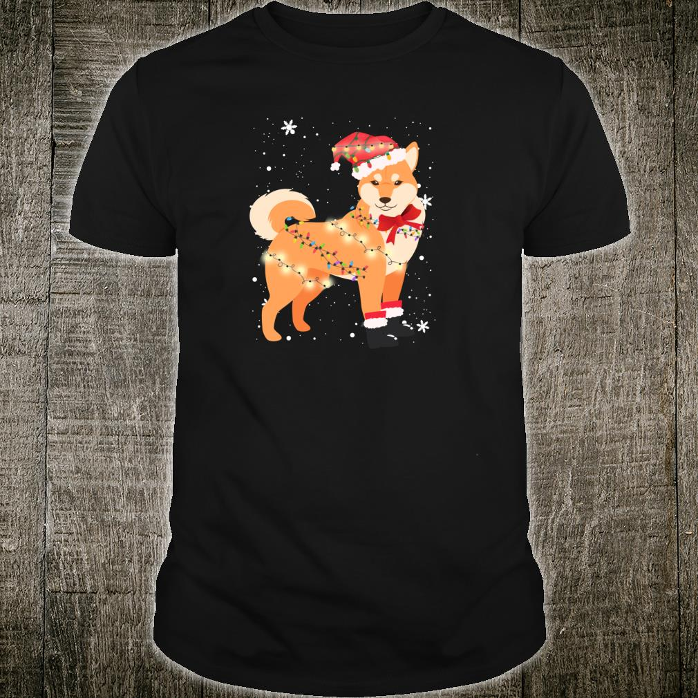 Shiba Inu Dog Christmas Tree Xmas Mom Dad Shirt