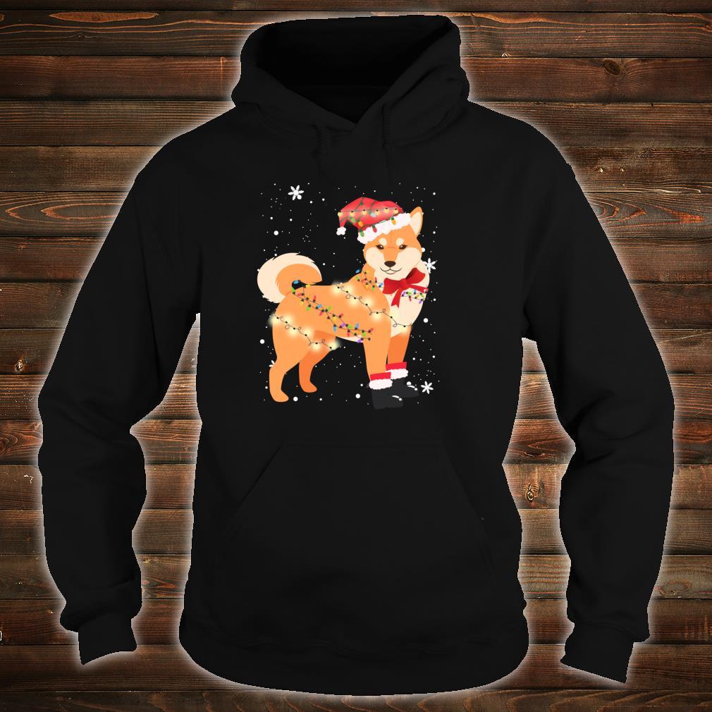 Shiba Inu Dog Christmas Tree Xmas Mom Dad Shirt hoodie