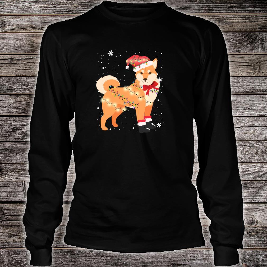 Shiba Inu Dog Christmas Tree Xmas Mom Dad Shirt long sleeved