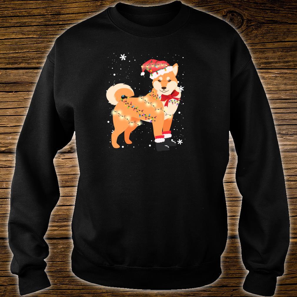 Shiba Inu Dog Christmas Tree Xmas Mom Dad Shirt sweater