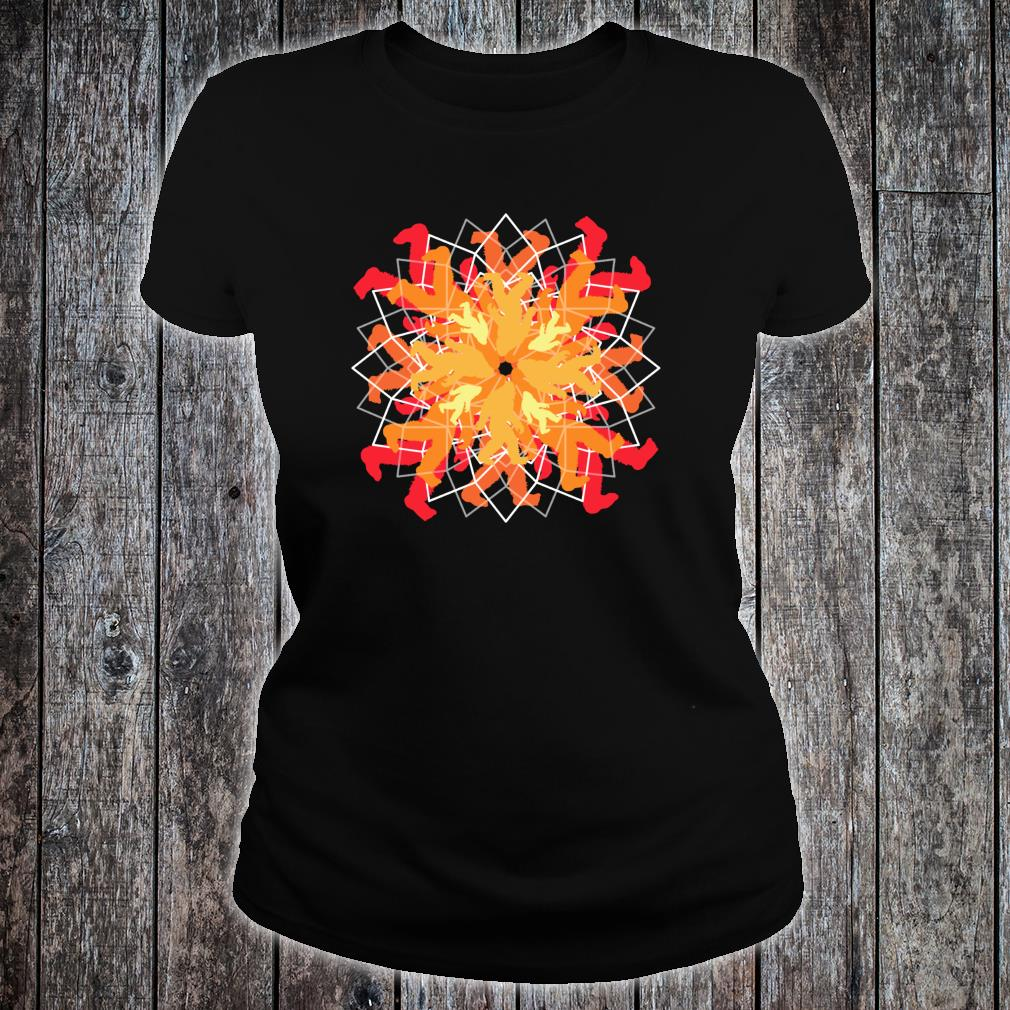 Simple Bigfoot Mandala Sweet Yoga Shirt ladies tee