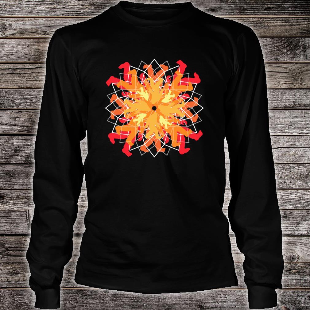 Simple Bigfoot Mandala Sweet Yoga Shirt long sleeved