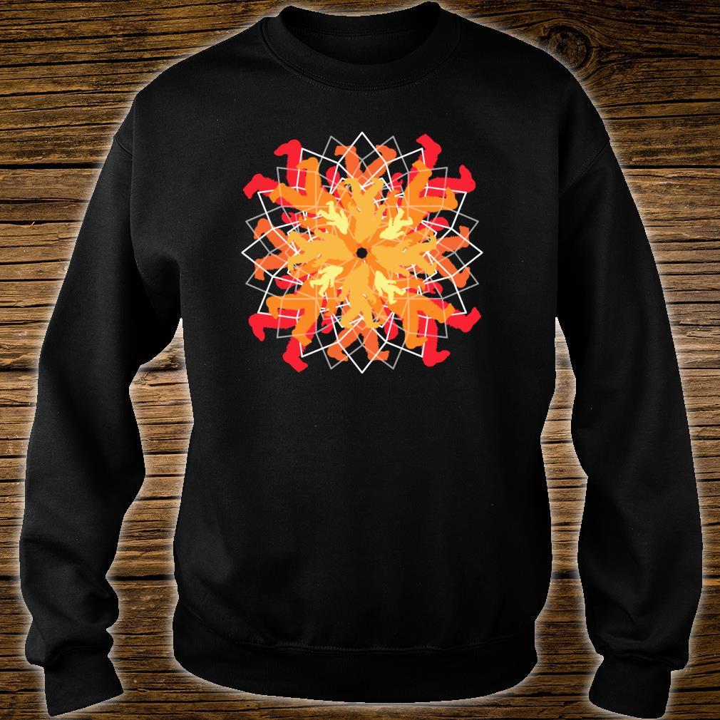 Simple Bigfoot Mandala Sweet Yoga Shirt sweater