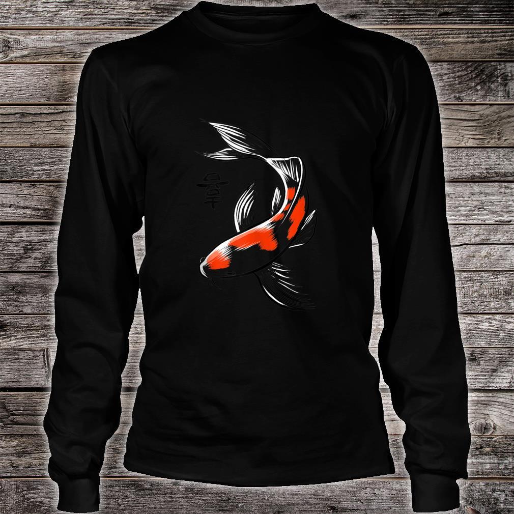 Sketch Japanese carp Shirt long sleeved