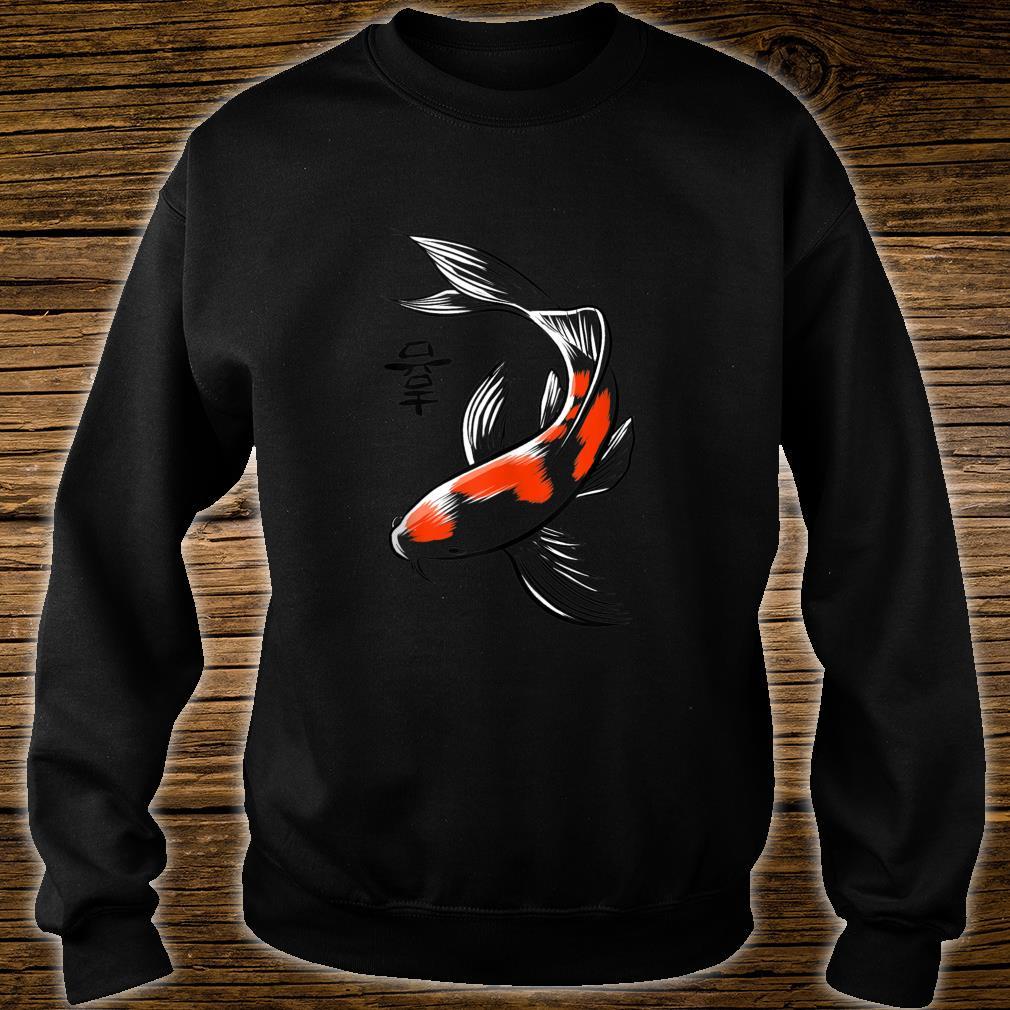 Sketch Japanese carp Shirt sweater