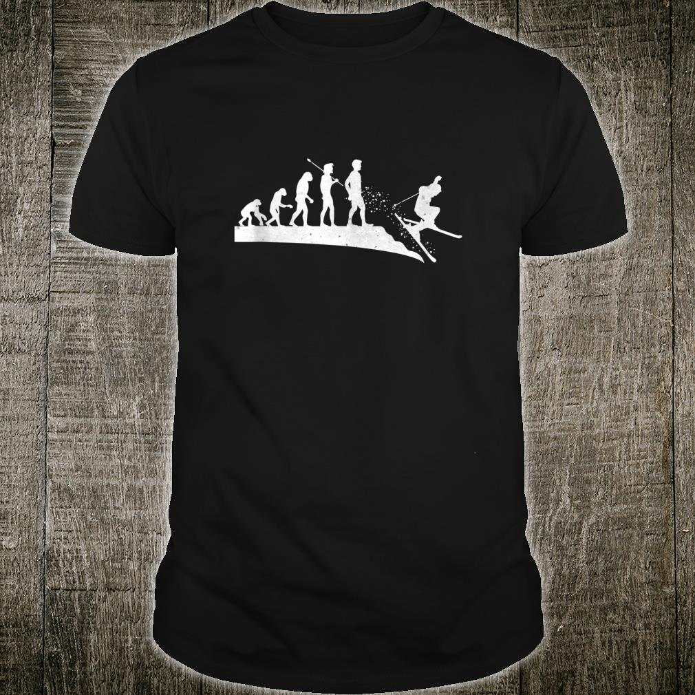 Skiing Evolution of Man Outdoor Sport Skiers Family Shirt