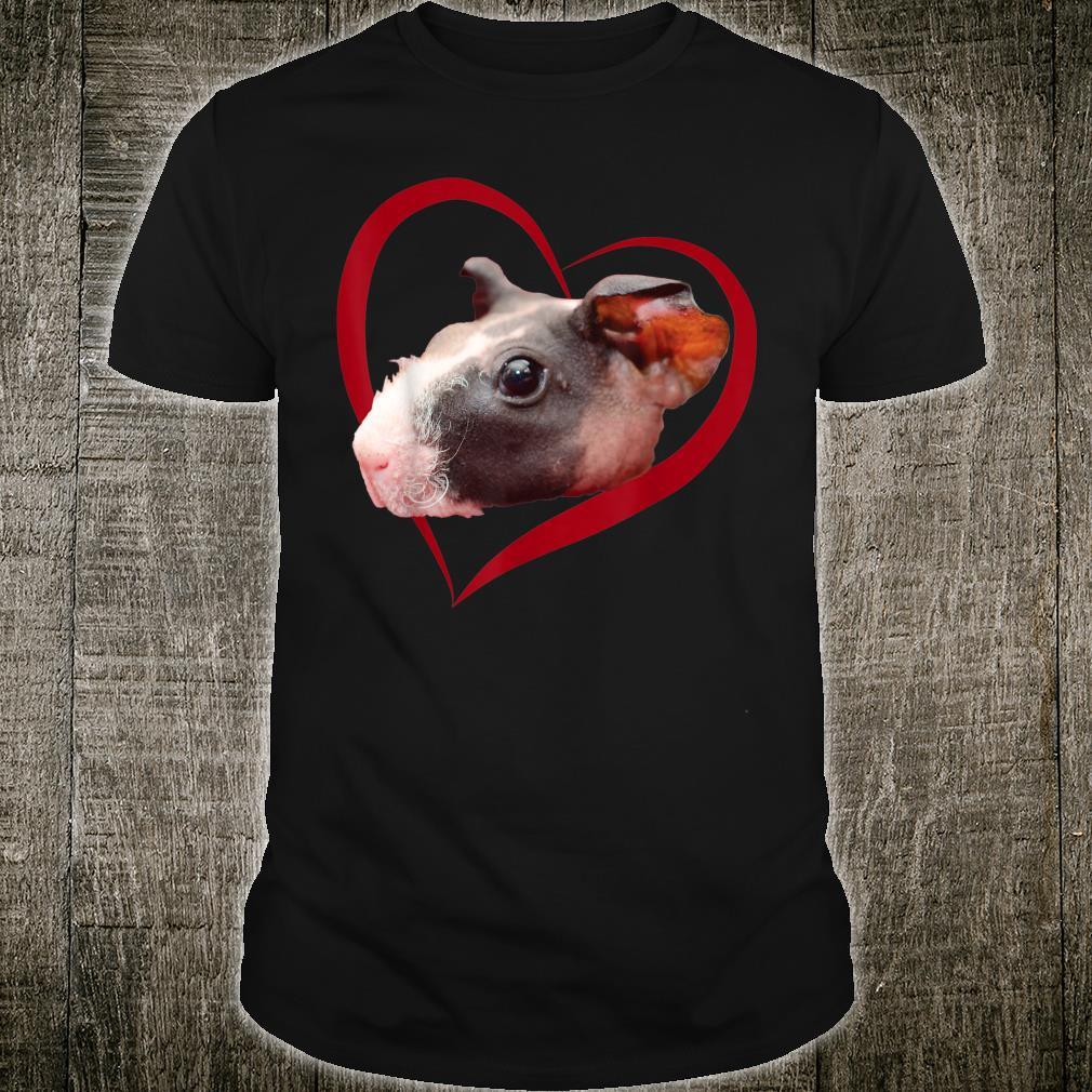Skinny Guinea Pig Love Heart Valentine's Day Shirt