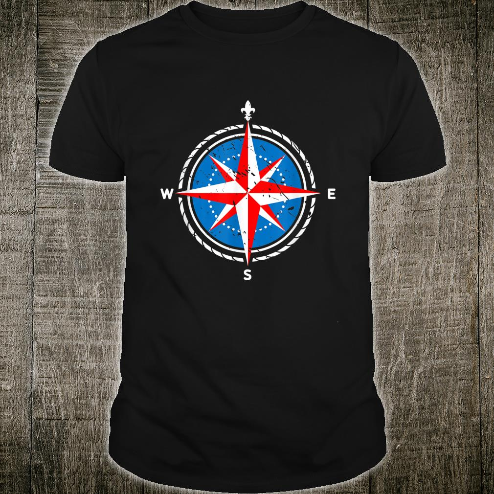 Skipper Sailor Compass Sailing Sailing Shirt