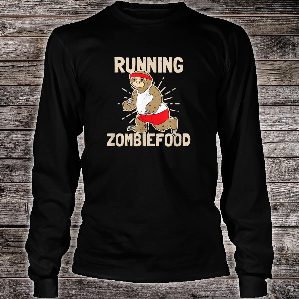 Sloth Halloween Design Running Zombiefood Shirt long sleeved