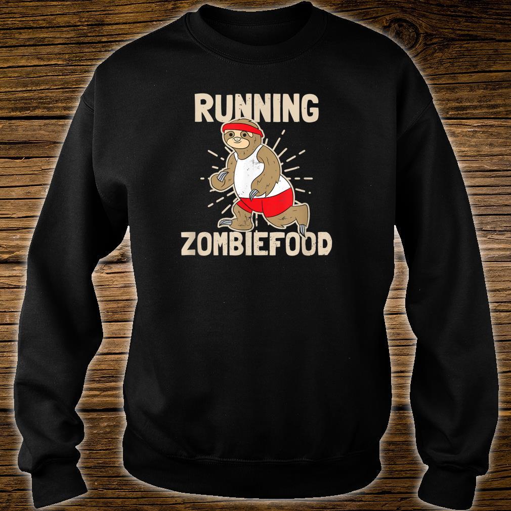 Sloth Halloween Design Running Zombiefood Shirt sweater