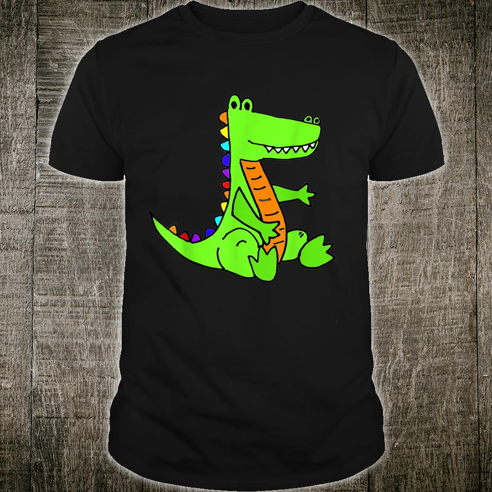 Smileteesanima Green Alligator Cartoon Shirt