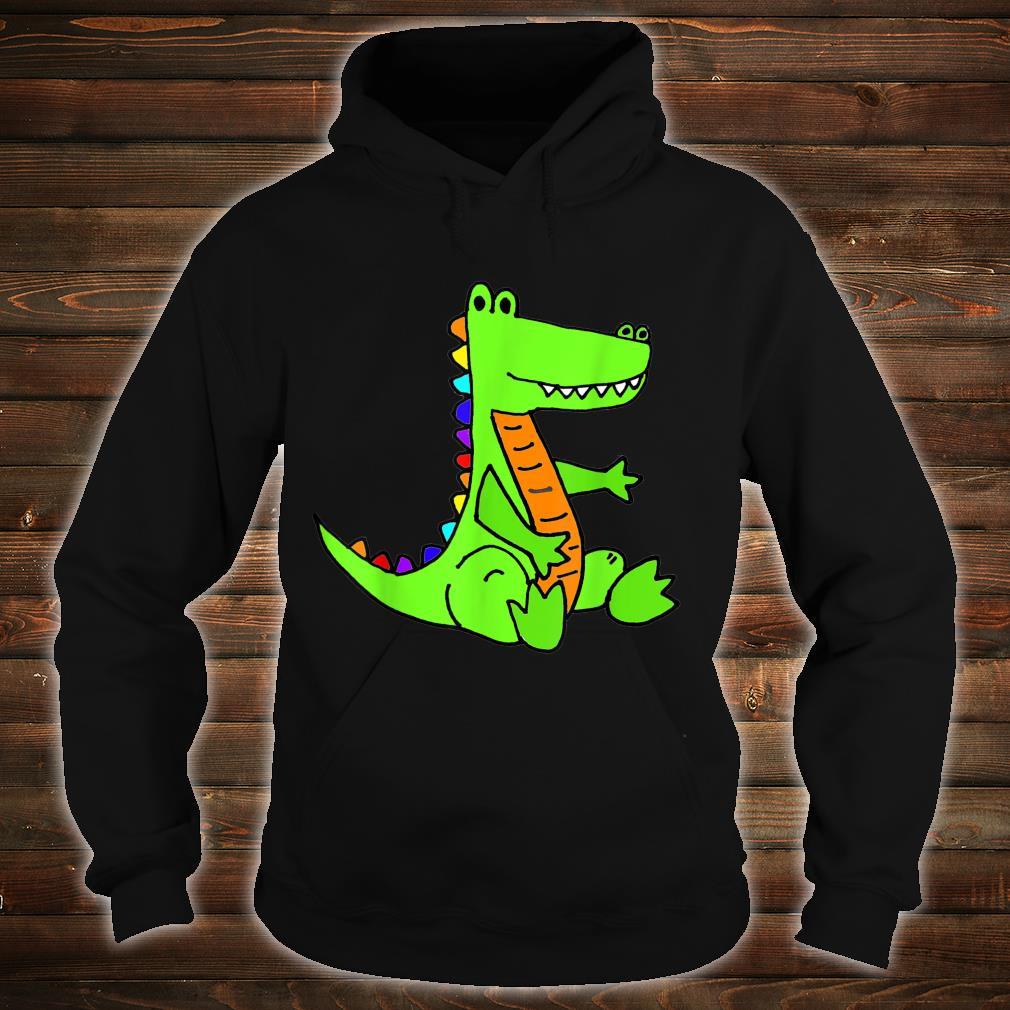 Smileteesanima Green Alligator Cartoon Shirt hoodie