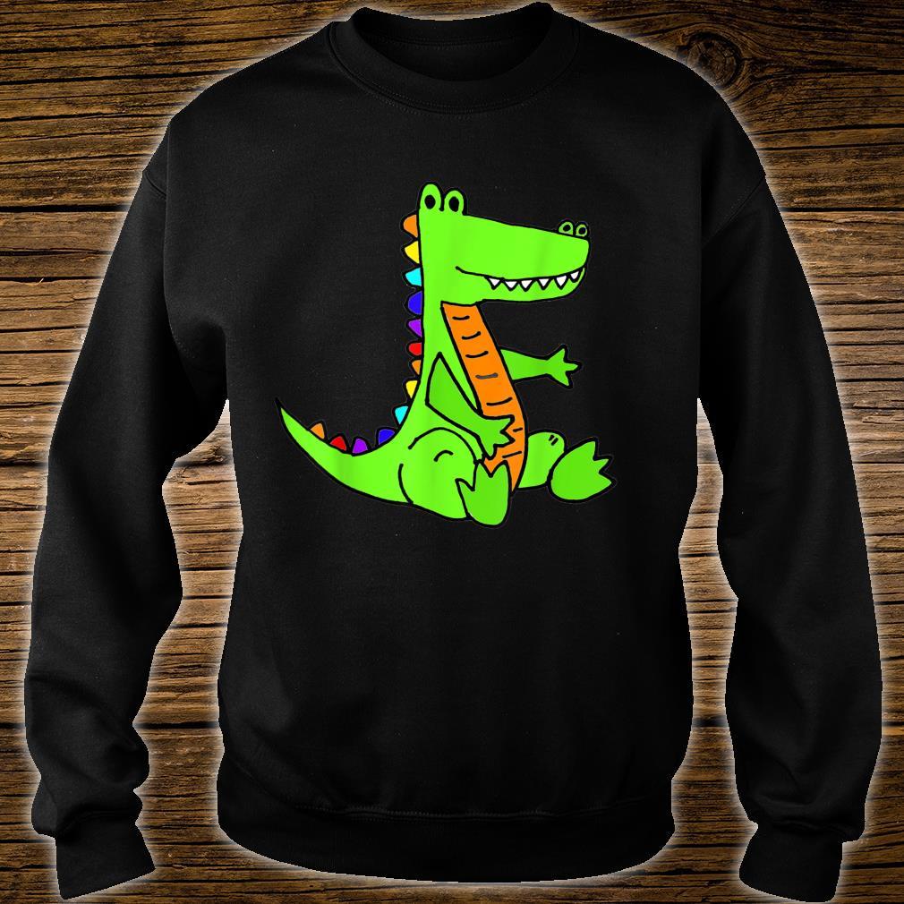 Smileteesanima Green Alligator Cartoon Shirt sweater