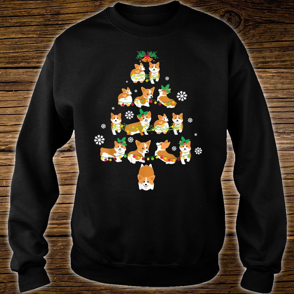 Snow Corgi Dogs Xmas Tree Merry Christmas Day Dog Dad Mom Shirt sweater