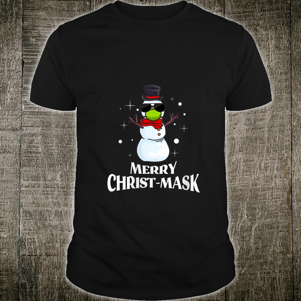 Snowman Mask Christmas 2020 Matching Pajama Cute Shirt