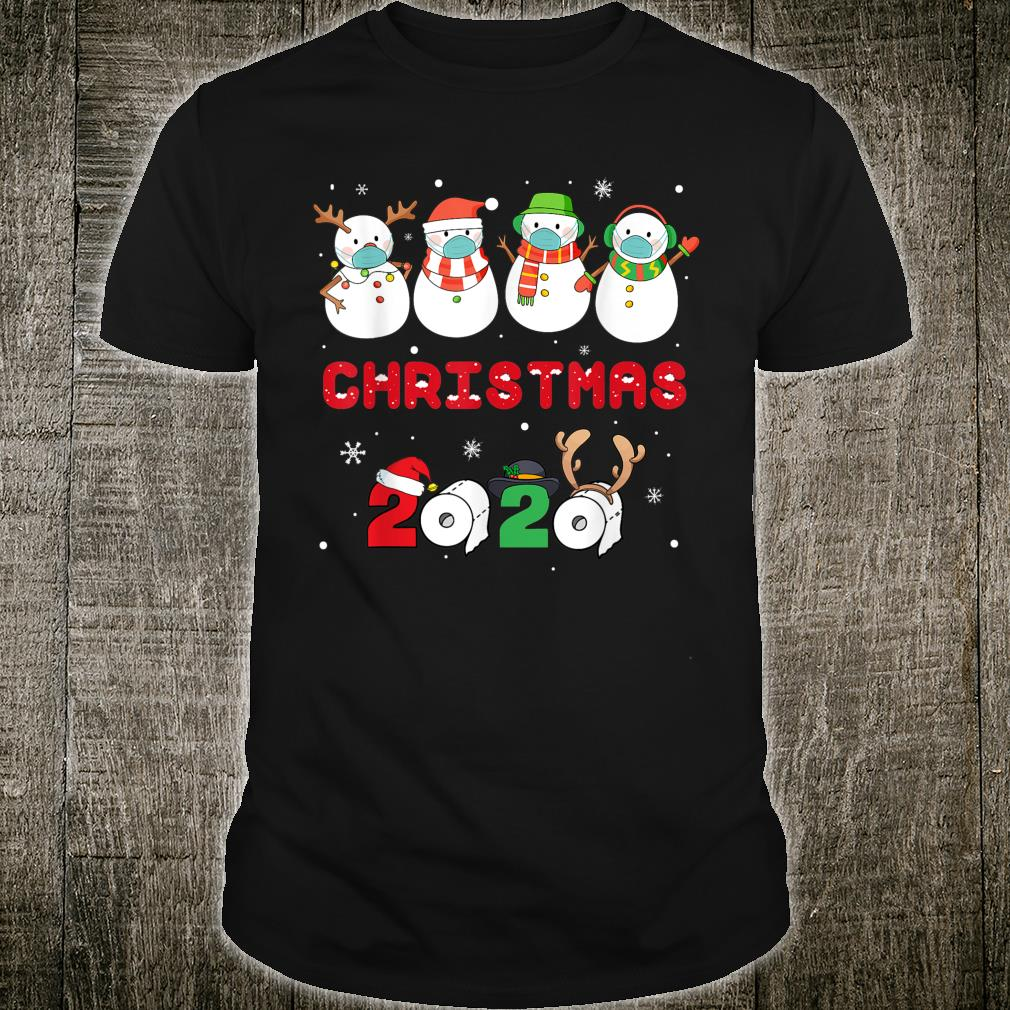 Snowman Wearing Mask Quarantine Christmas 2020 Shirt