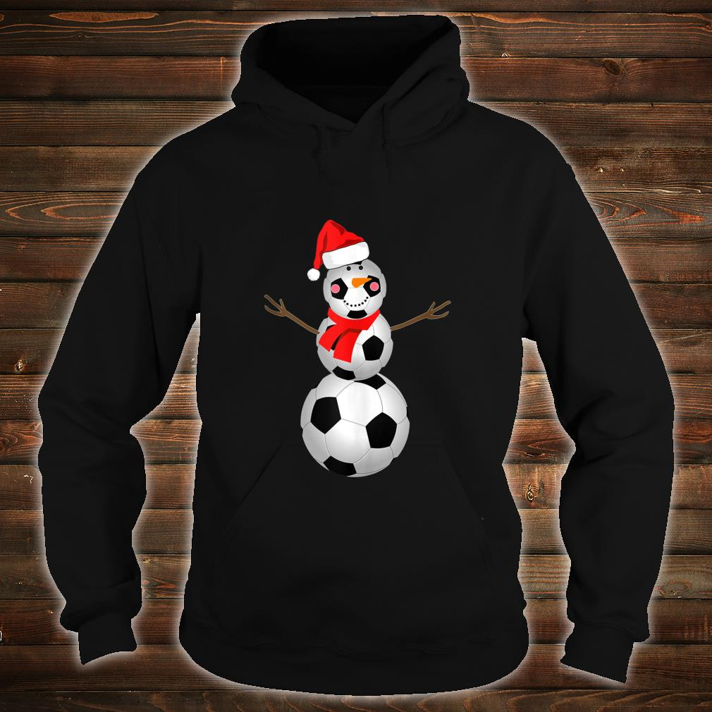 Soccer Snowman Christmas 2020 Snow Red Scarf Shirt hoodie