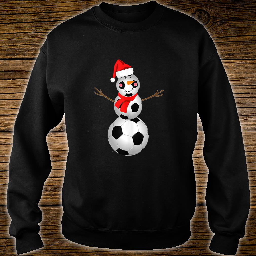 Soccer Snowman Christmas 2020 Snow Red Scarf Shirt sweater