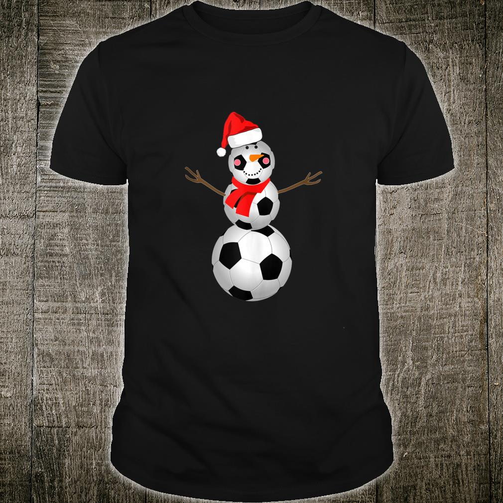 Soccer Snowman Christmas 2020 Snow Red Scarf Shirt