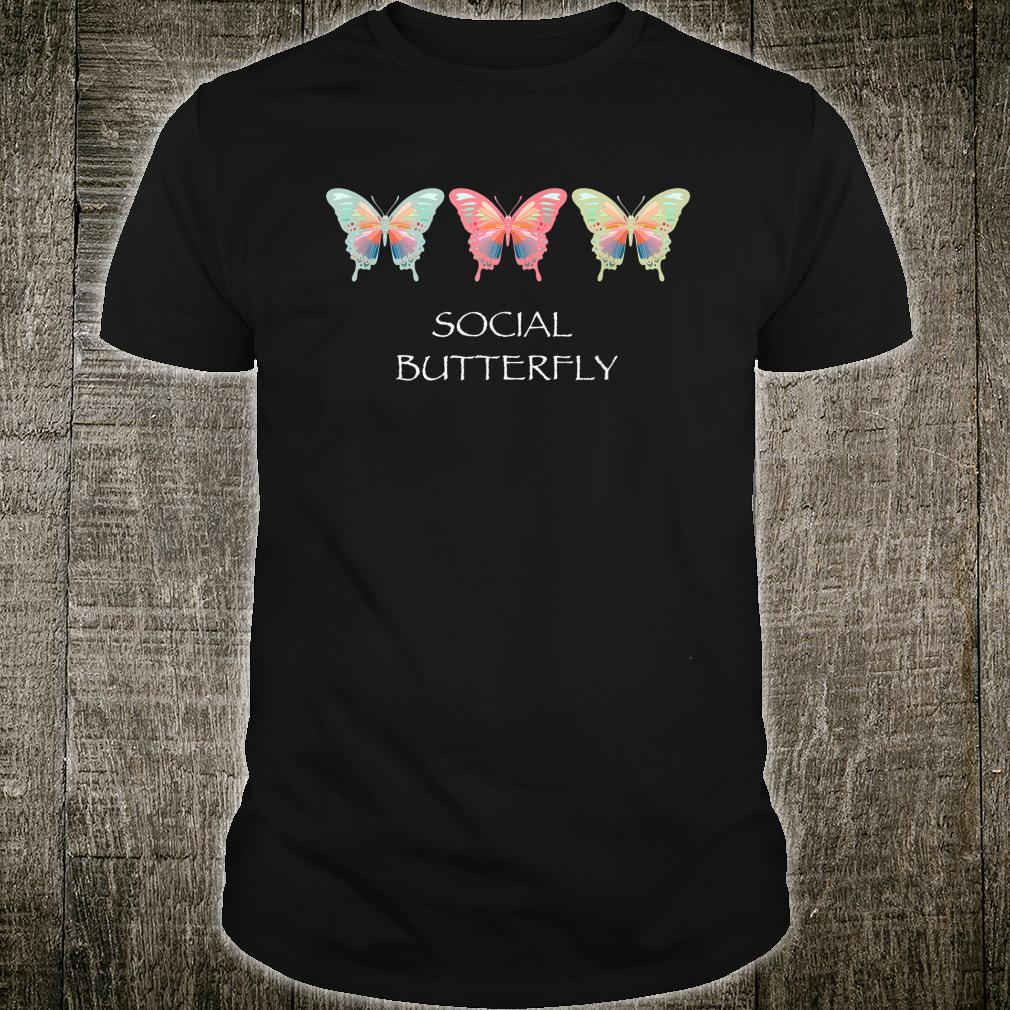 Social Butterfly and Cute Design Extroverted People Shirt