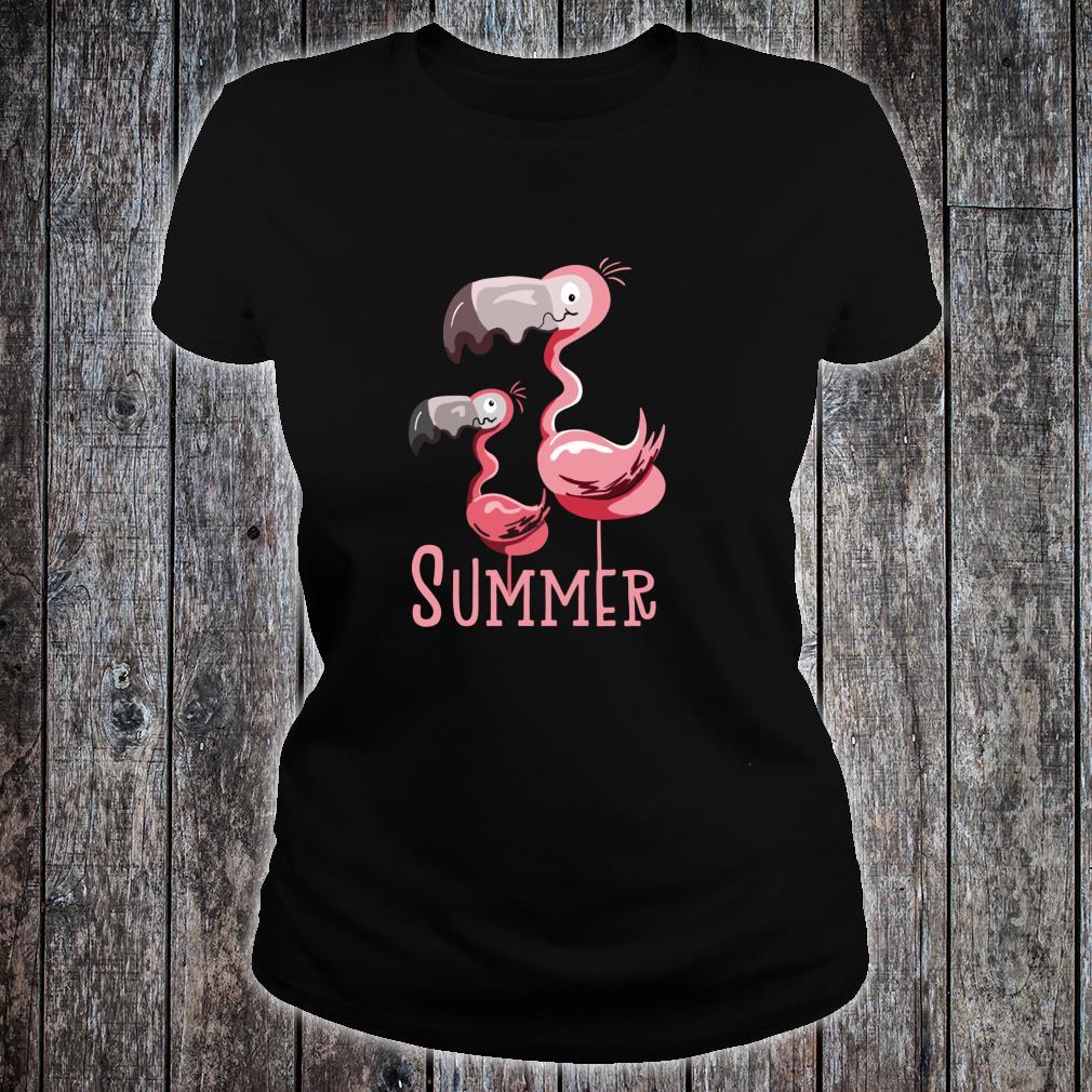 Sommer Flamingos I Vogel Fund Design für Flamingo Fans Shirt ladies tee