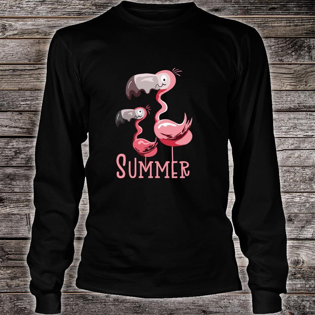 Sommer Flamingos I Vogel Fund Design für Flamingo Fans Shirt long sleeved