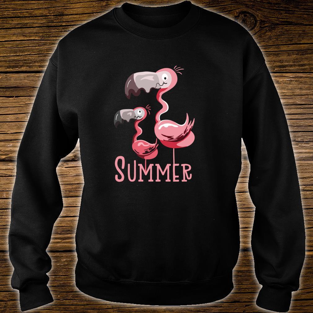 Sommer Flamingos I Vogel Fund Design für Flamingo Fans Shirt sweater