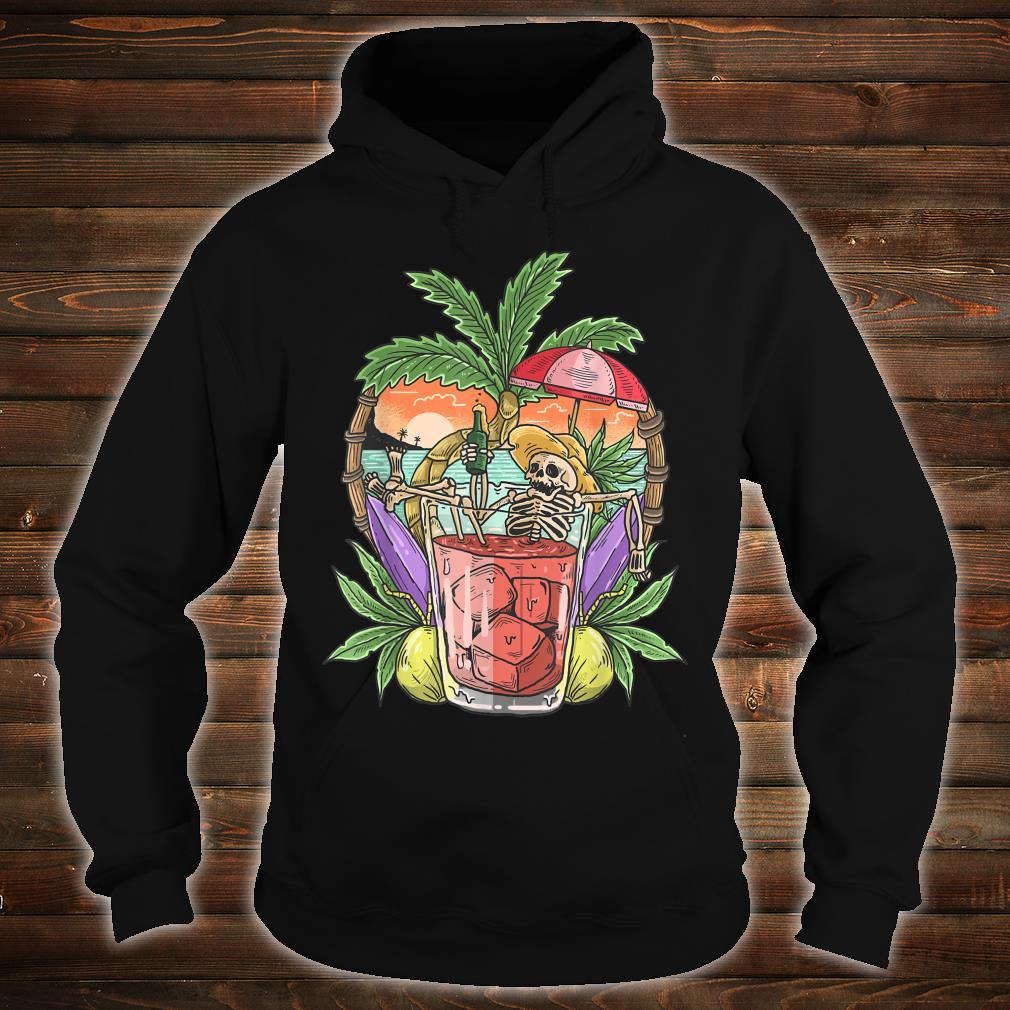 Sommer Ästhetischer Strand RetroSkelett Tropical Island Shirt hoodie