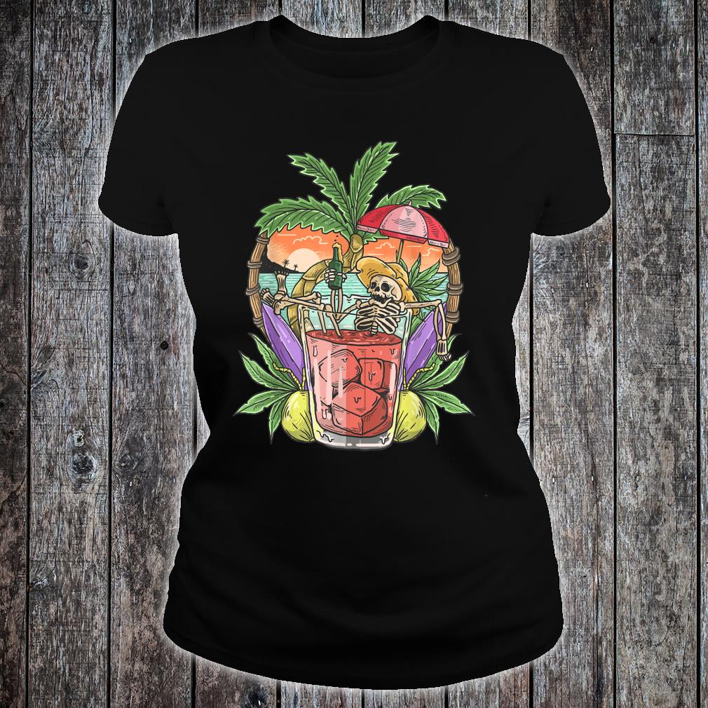 Sommer Ästhetischer Strand RetroSkelett Tropical Island Shirt ladies tee
