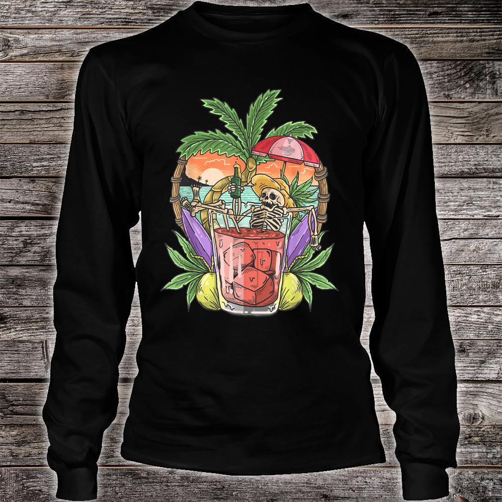 Sommer Ästhetischer Strand RetroSkelett Tropical Island Shirt long sleeved