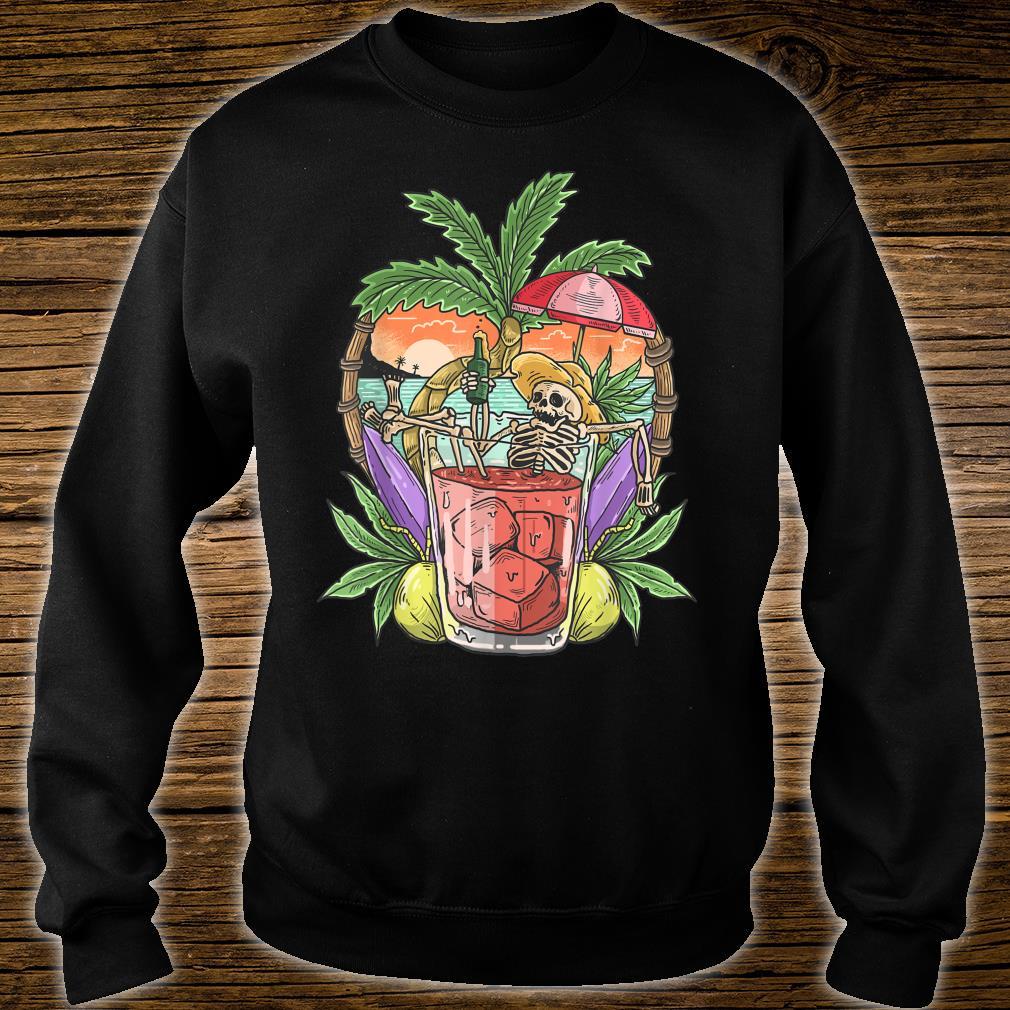 Sommer Ästhetischer Strand RetroSkelett Tropical Island Shirt sweater