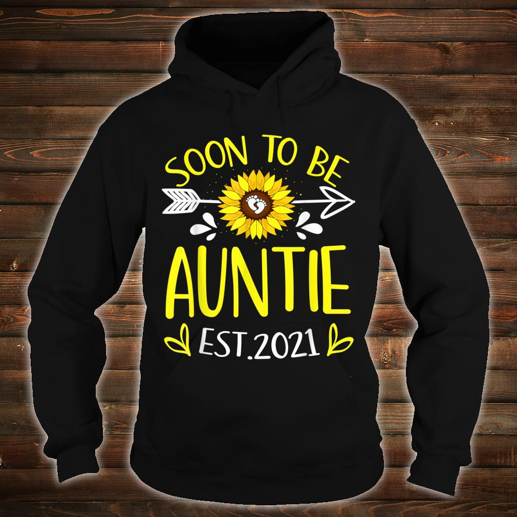 Soon To Be Auntie Est 2021 Sunflower Shirt hoodie