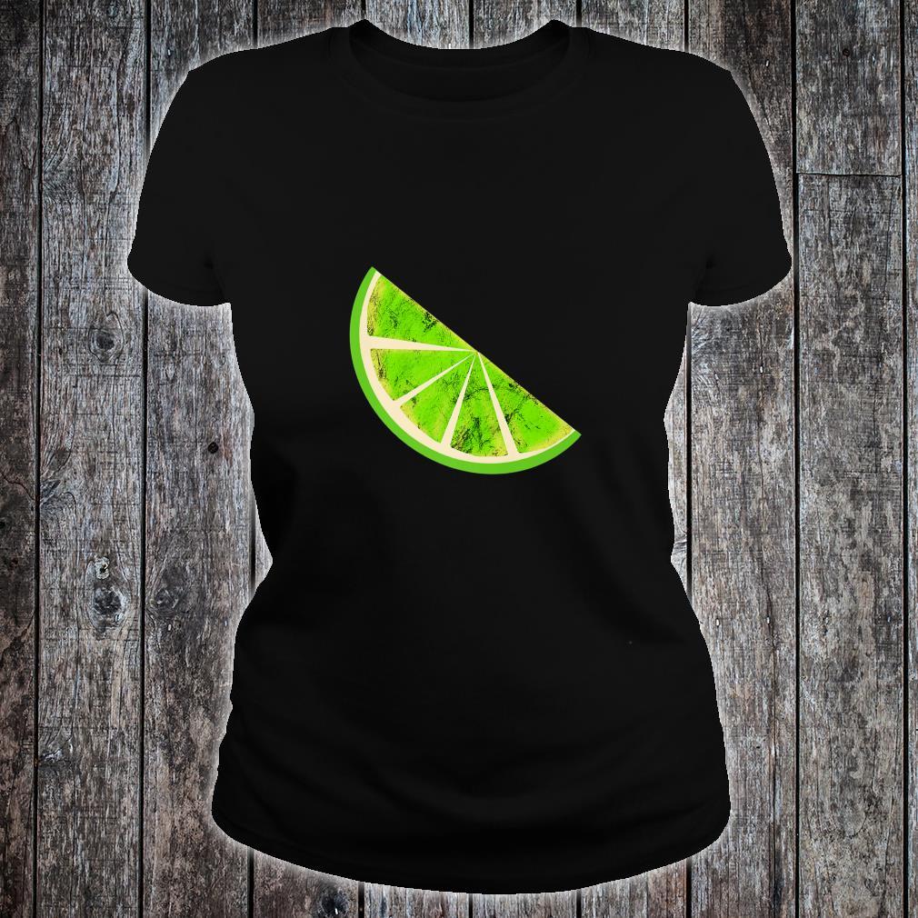 Sour Lime Slice Fruits Juice Lemonade Healthy Lemon Shirt ladies tee