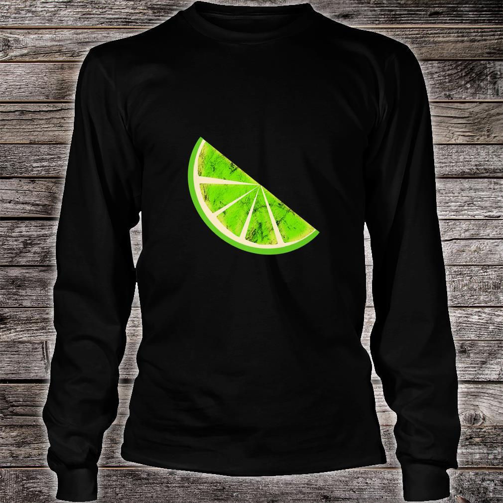 Sour Lime Slice Fruits Juice Lemonade Healthy Lemon Shirt long sleeved