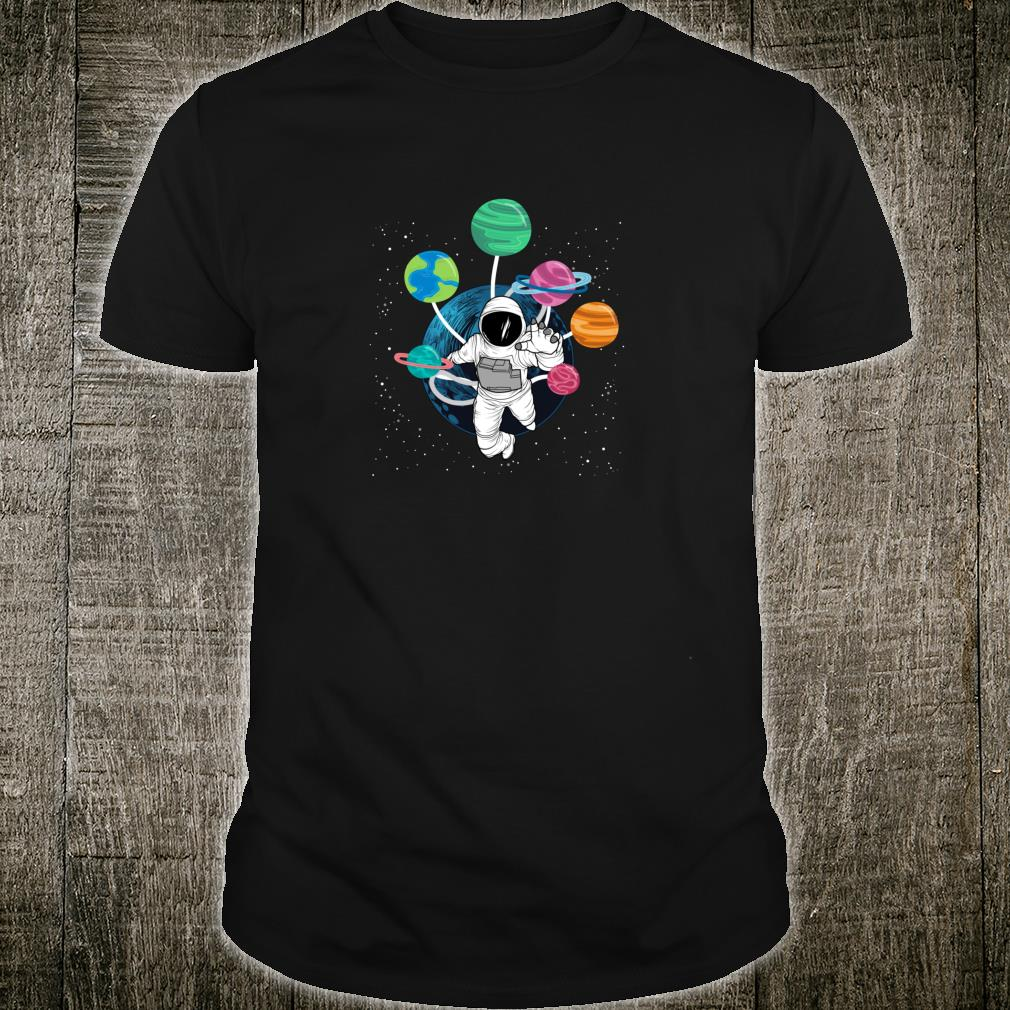 Space Boys Planets Astronaut Science Solar System Shirt
