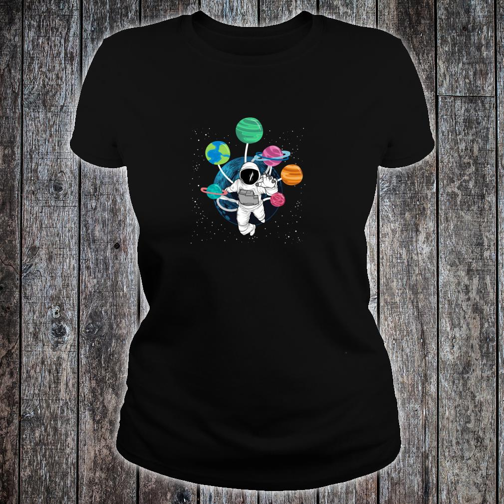 Space Boys Planets Astronaut Science Solar System Shirt ladies tee