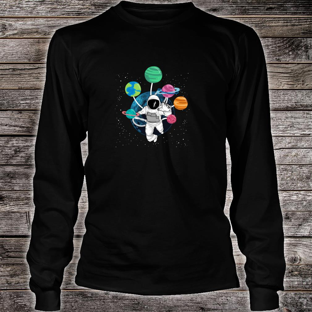 Space Boys Planets Astronaut Science Solar System Shirt long sleeved