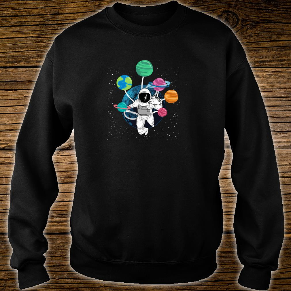 Space Boys Planets Astronaut Science Solar System Shirt sweater