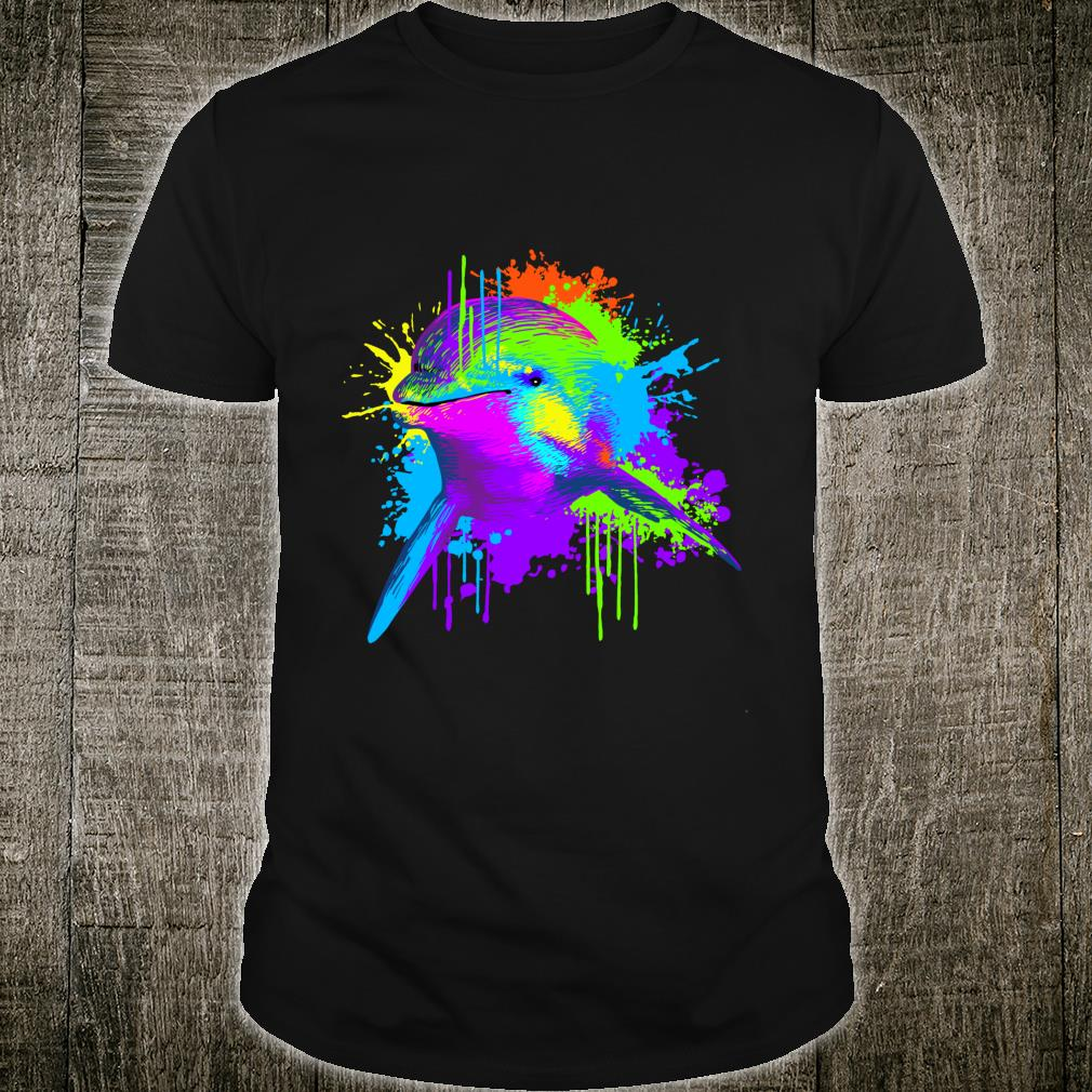 Splash Art Dolphin Animal Dolphins Shirt