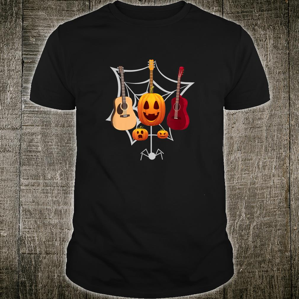 Spooky Guitarist Music Halloween Shirt