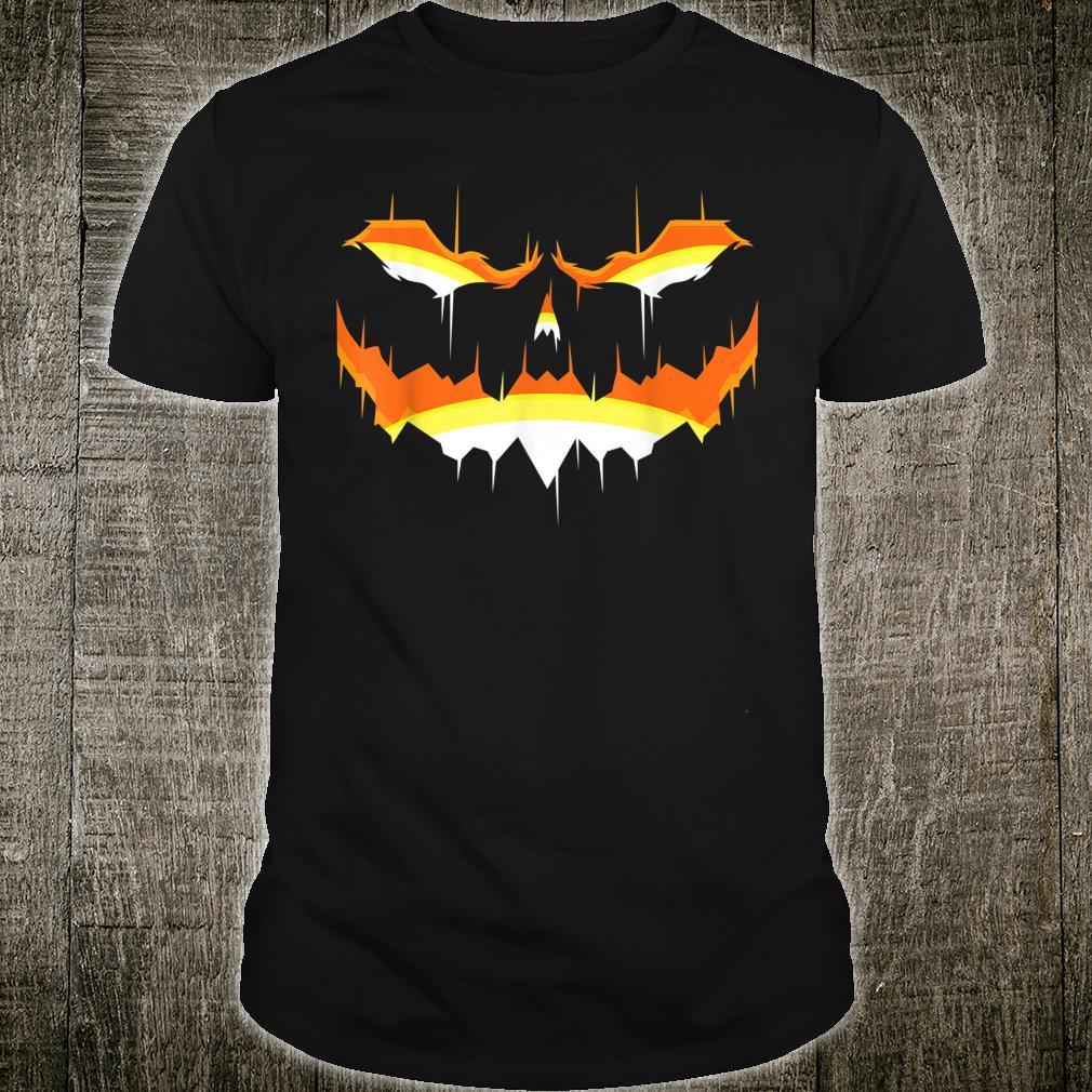 Sppoky Halloween Pumpkin Scary Face Jack O Lantern Shirt