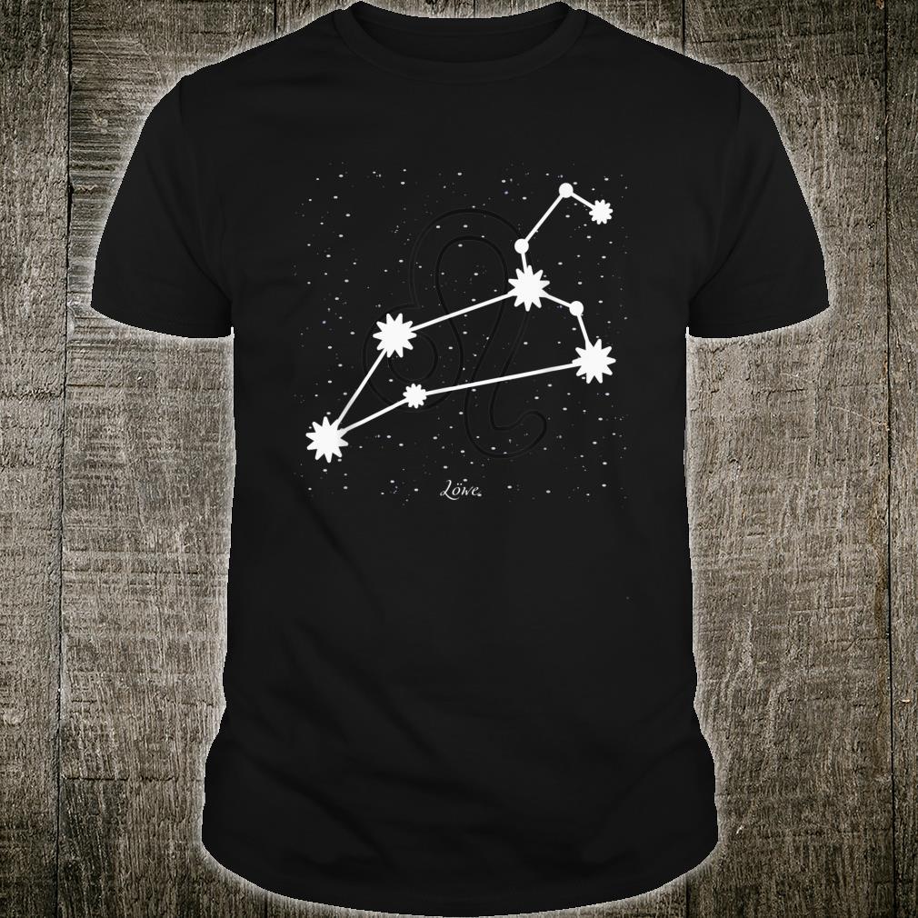 Sternzeichen Löwe Juli August Geburtstags Shirt