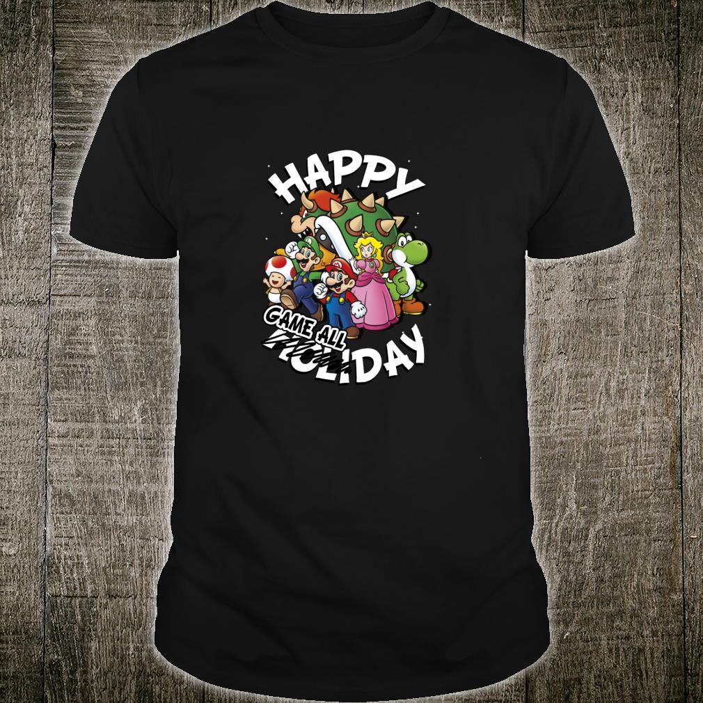 Super Mario Group Shot Happy Game All Day Holiday Christmas Shirt