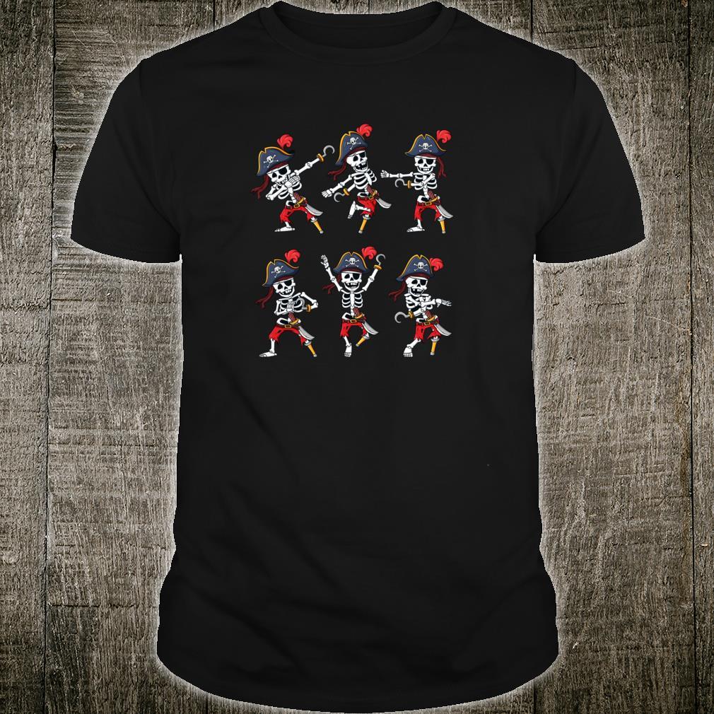 Tanzende HalloweenPiraten SkelettPiraten Jungen Mädchen Shirt