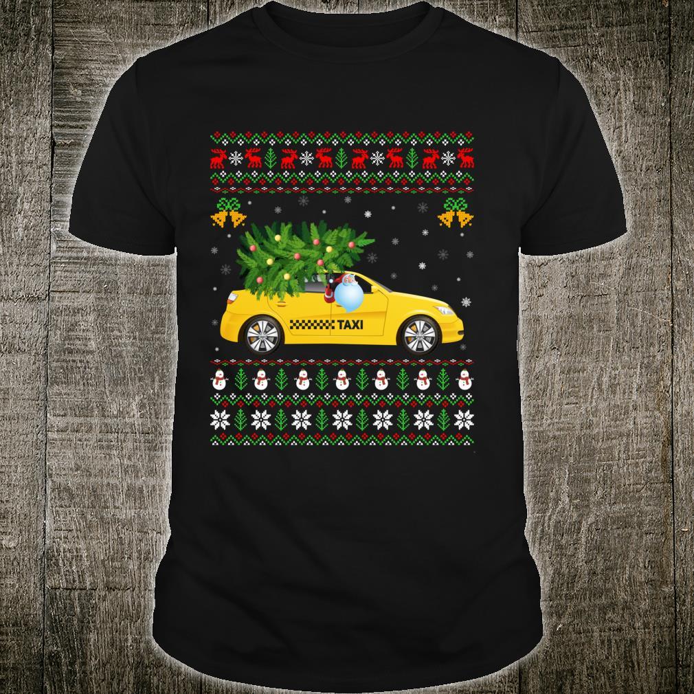 Taxi Driver Xmas Tree Ugly Santa Taxi Driver Christmas Shirt