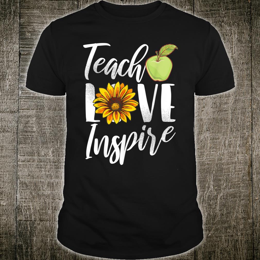 Teach Love Inspire Sonnenblumen Lehrer Shirt