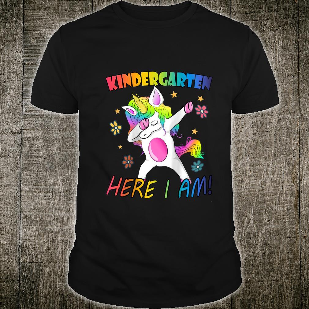 Teacher Outfit Unicorn Girl Firtst Day of Kindergarten Shirt
