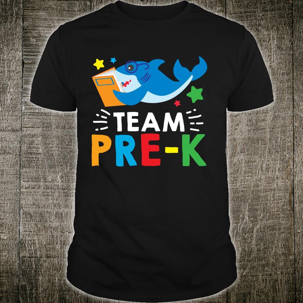 Team PreK Reading Shark Back To School Book Shirt